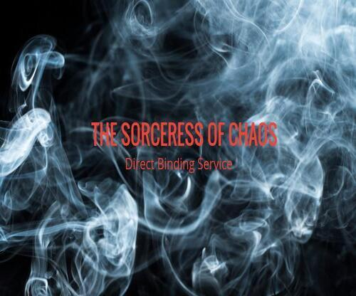 THE SORCERESS OF CHAOS  Direct Binding Service - PAYBACK IS A BITCH  - $179.00