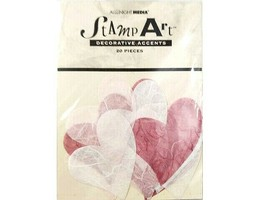 All Night Media Stamp Art Hearts Tissue Paper Decorative Accents #5101S