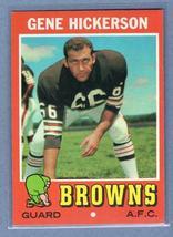 VINTAGE NFL 1971 TOPPS #36 GENE HICKERSON (HOF) EX-MT - $7.59