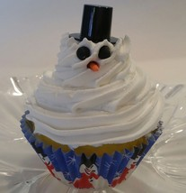 Snowman Cupcake  Fake Faux Cupcake - Decoration for Home - $5.93