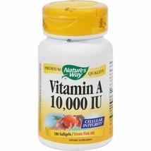 Nature's Way Vitamin A 10,000 IU 100 Softgel Dietary Supplements - $7.10