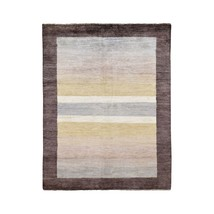 """4'7""""x6'7"""" Multicolored Hand Knotted Peshawar Gabbeh Pure Wool Rug G47051 - $293.56"""