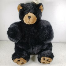 "Unipak 9"" Plumpee Black Bear Plush New With Tag - $31.20"