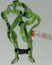 Valhoma 735 LG 3/4 inch Quick Fit Adjustable Dog Harness Lime Green Medium Nylon image 1