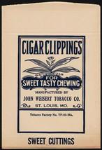 Vintage bag CIGAR CLIPPINGS John Weisert Tobacco St Louis Missouri unuse... - $6.29