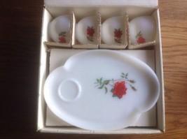 Vintage Rosecrest Federal Glass 8 Piece Snack P... - $24.85