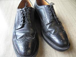 Black Color Rounded Brogues Toe Wing Tip Handmade Mens Classical Oxford Shoes - $139.90+