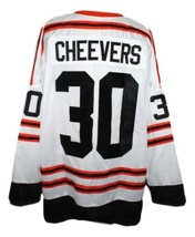 Gerry Cheevers #30 Wha All Star Retro Hockey Jersey New White Any Size image 4