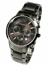 Emporio Armani AR2454 Classic Gray Chronograph Mens Watch - $140.74 CAD