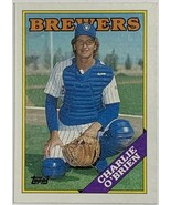 1988 Topps #566 Charlie O'Brien Milwaukee Brewers Baseball Card - $2.44