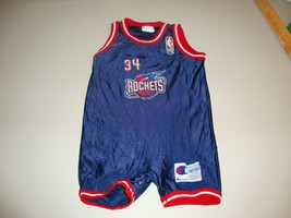 Vintage NBA Houston Rockets Hakeem Olajuwon Baby Infant Champion Jersey ... - $148.49