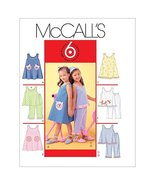 McCall's Patterns M4006 Children's and Girls' Dresses, Top and Pants, Si... - $2.48