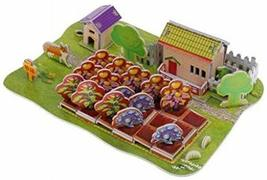 PANDA SUPERSTORE Stereoscopic 3D Happy Farm Paper Puzzle Children's Educational