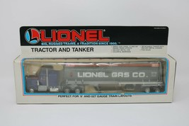 Lionel Tractor and Tanker Lionel Gas Co. O Gauge 6-12739 Gray & Blue - $28.72