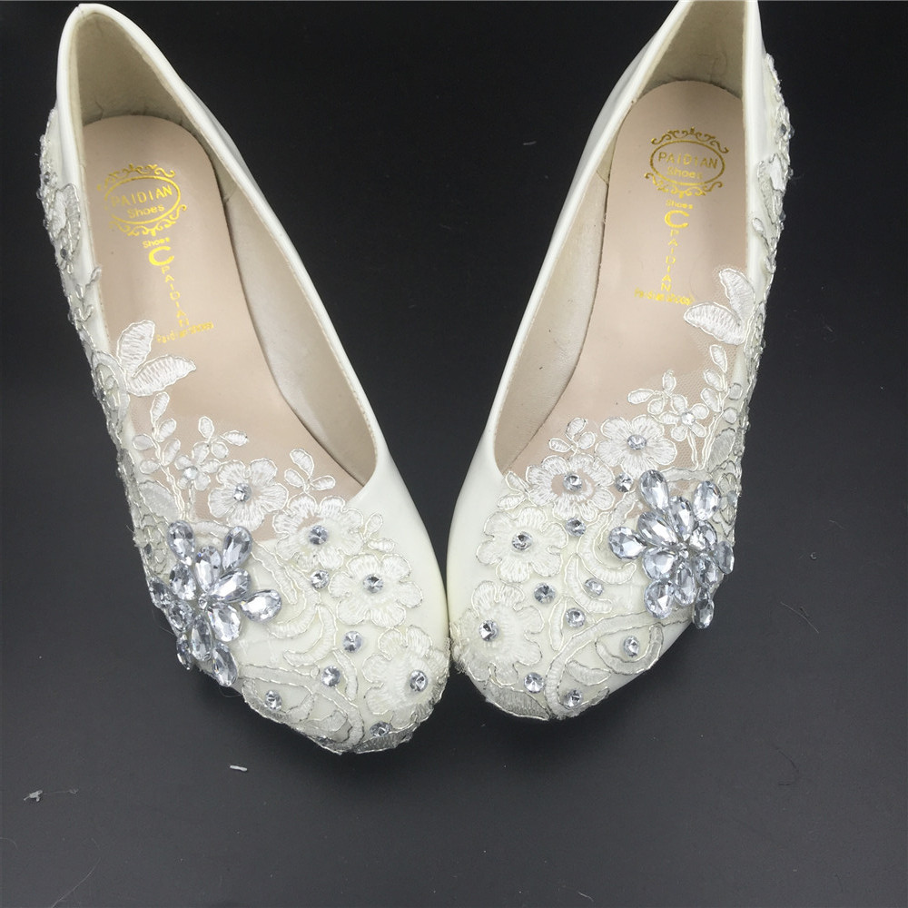 Women Wedding Wedges Shoes/Ladies Bridal Wedges Shoes,Wedding Low Heels Wedges image 3