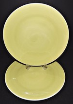 2 Green Luncheon Salad Plates Stoneware Jill Rosenwald Certified International - $29.69
