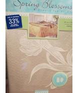 New Champagne Damask Tablecloth Spring Blossom Cotton Blend Flower Oblon... - $14.99