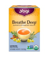 Yogi Tea, Organic, Breathe Deep, Caffeine Free, 16 Tea Bags, 1.12 oz (32 g) - $4.00