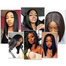 Glueless Short Bob Wigs Brazilian Virgin Hair Straight Bob Wigs Lace Front Human image 7
