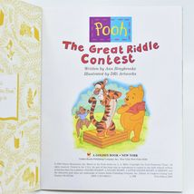 "A Little Golden Book Pooh The Great Riddle Contest ""A"" First Edition 2000 image 3"