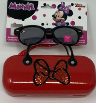 Minnie Mouse Sunglasses & Case with handles   Disney Junior Red Bow  - $15.83
