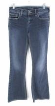 Silver Jeans 28 la Fibbia Aiko Scuro Lavare Elasticizzato Spesso Stitch ... - $19.92