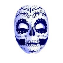 Underwraps Día de los Muertos Calavera Máscara Accesorio Traje Halloween... - $11.57