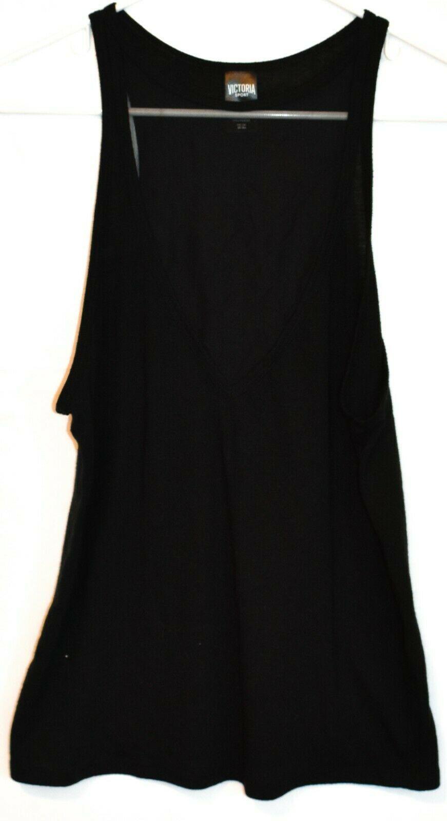 Victoria's Secret Victoria Sport Women's Black Illusion V-Neck Tank Top Size S