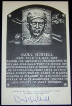 GREAT DEAL! Carl Hubbell Signed Autographed Artvue HOF Postcard Plaque J... - $54.40