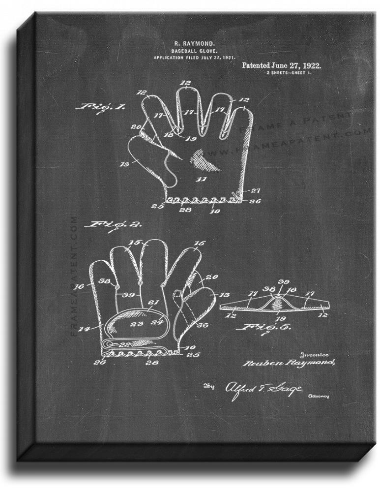 Primary image for Baseball Glove Patent Print Chalkboard on Canvas