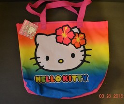 Hello Kitty Tote Beach Bag Hawaiian Bright Colors - NWT - $14.39