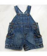 Osh Kosh Denim Overalls Baby 3 Month Blue Shorts One Piece Summer  - $16.49