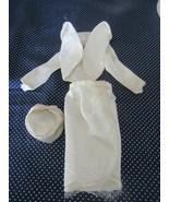 1963  MATTEL BARBIE- FASHION PAK WHITE SATIN BOLERO-HAT AND WRAP SKIRT  !! - $79.15