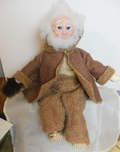 """Father Christmas Old Man Doll 18"""" Brown Suit Handmade Articulated - $24.00"""