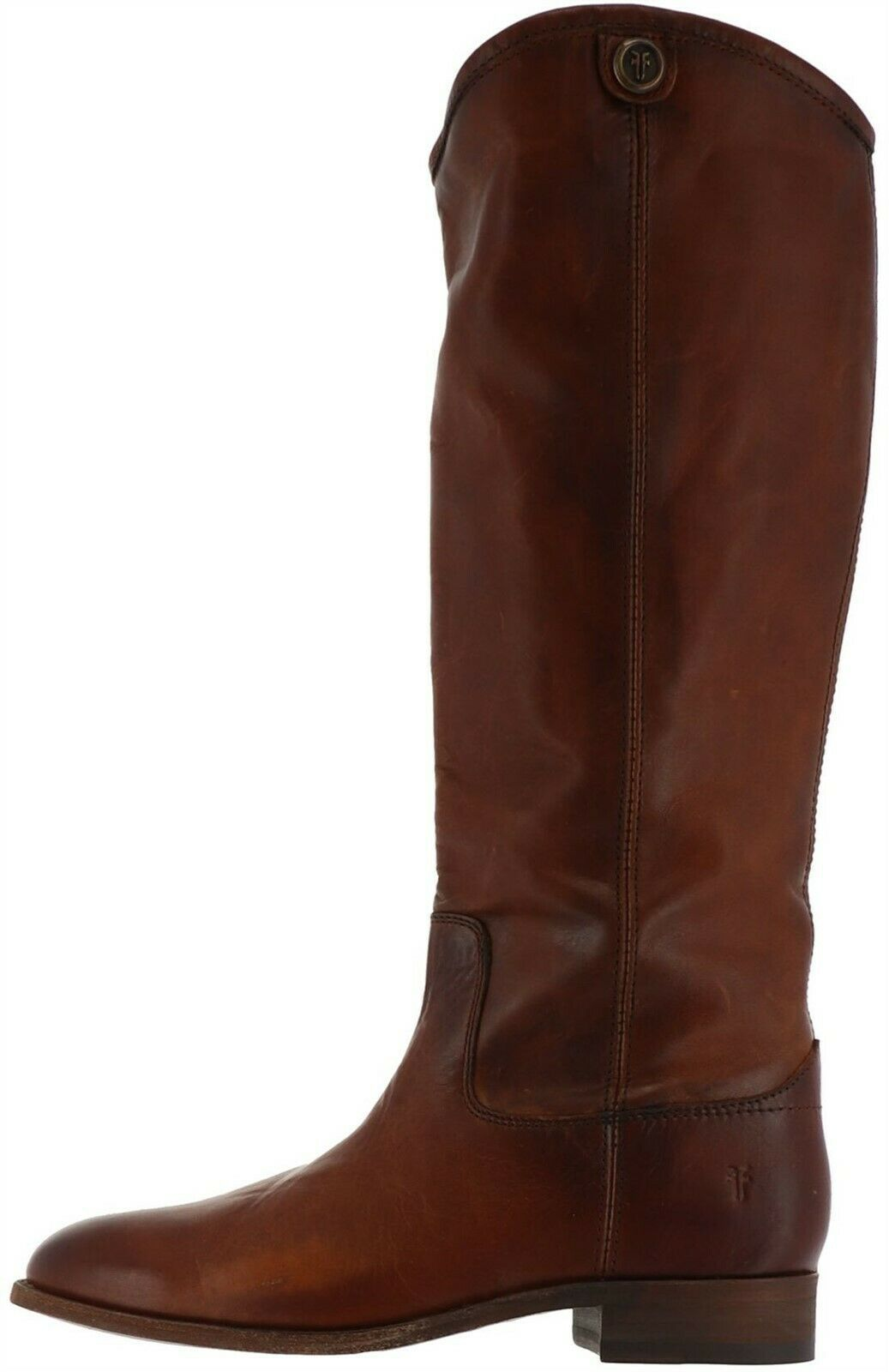 Primary image for Frye Leather Tall Shaft Boots Melissa Button2 Cognac 6M NEW A367411