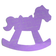 Rocking Horse Cutouts Plastic Shapes Confetti Die Cut FREE SHIPPING - £5.29 GBP