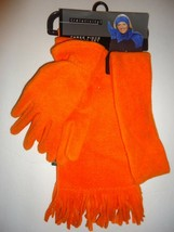 SEATTLE 3 PIECE GLOVE SCARF HEADBAND SET,Orange, O/S - $22.27