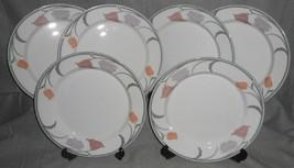 Set (6) Dansk Tivoli Belles Fleurs Gray Pattern Dinner Plates Japan - $98.99