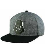Star Wars 2Tone Marled Black & Gray Darth Vader Adjustable Snap back Cap - $18.99