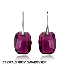 2019 Charming Rectangle Drop Earrings With Crystal from swarovski Vintag... - $21.55
