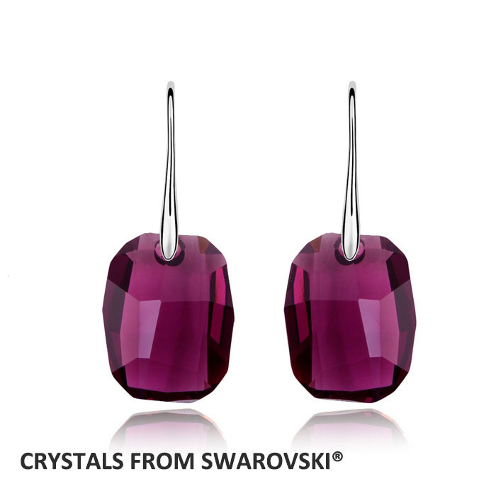 Ng rectangle drop earrings with crystal from swarovski vintage wedding jewelry good for new year