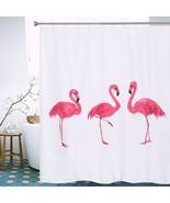 Flamingo Shower Curtains 2016 Hot Sale European Style Waterproof Bath Cu... - $24.98+
