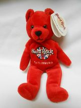 New Hard Rock Cafe Gatlinburg Rita Beara Collectible Bear red  - $9.89
