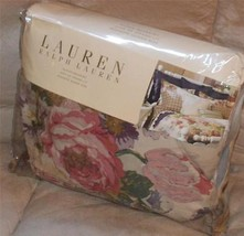 Ralph Lauren SURREY GARDEN FLORAL King Bedskirt Multi Color NWT - $59.39