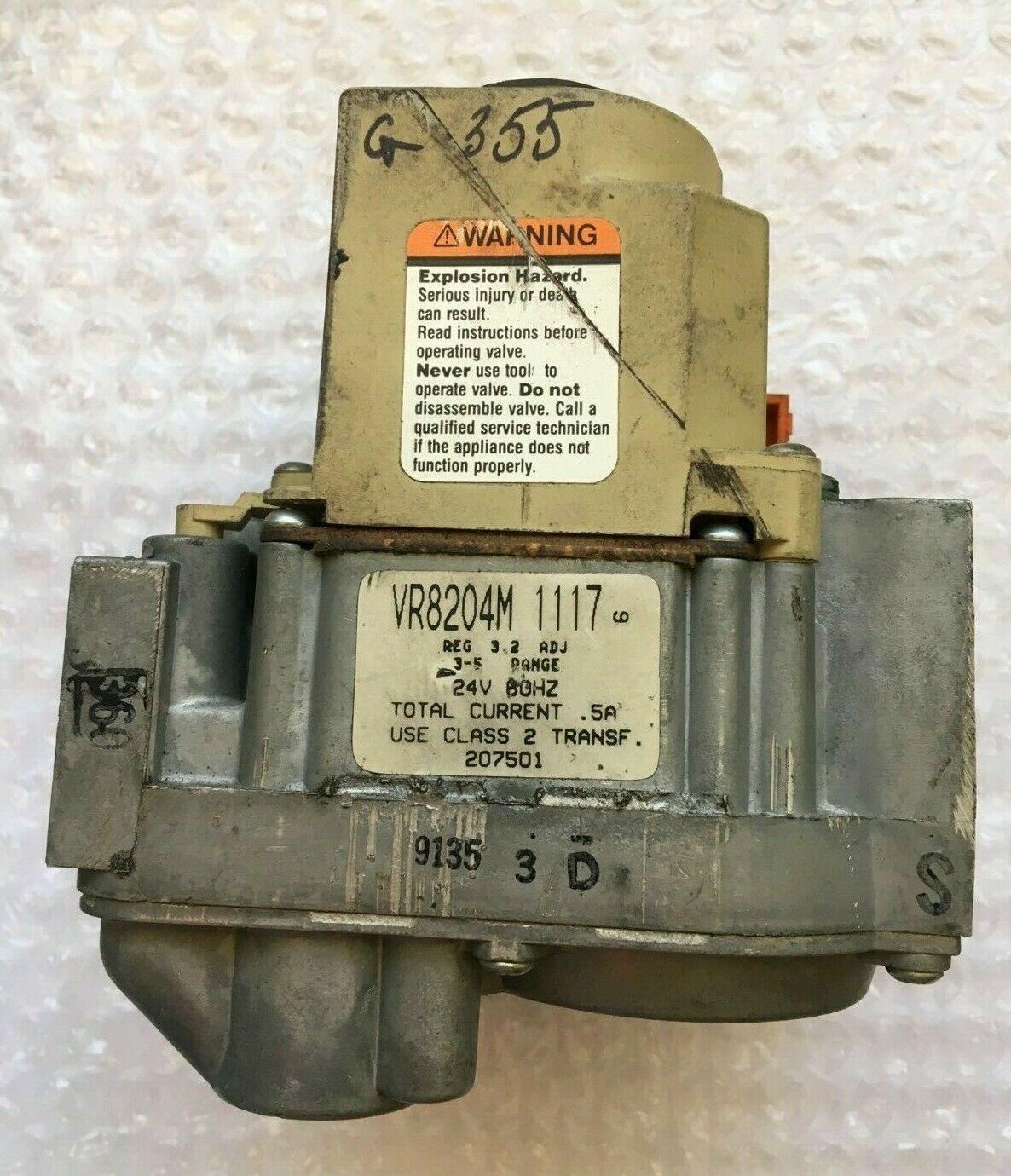 Honeywell VR8204M1117 HVAC Furnace Gas Valve 207501 used #G355 - $50.96