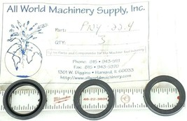 LOT OF 3 NEW ALL-WORLD MACHINERY SUPPLY PNY-22.4 O-RING SEALS PNY224