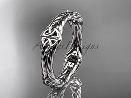 platinum  rope celtic trinity knot wedding band RPCT9356G - $995.00