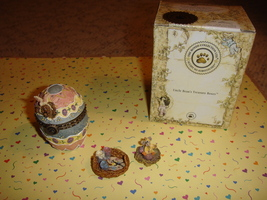 Boyds Bears Treasure Box Watson's Fabearlous Egg W/Peep McNibble - $18.49