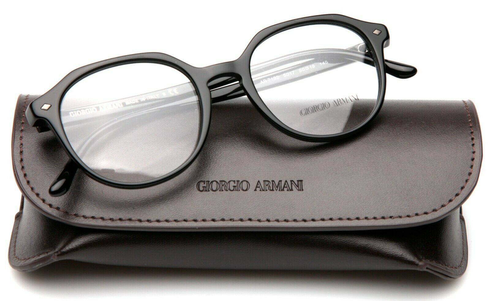 Primary image for NEW GIORGIO ARMANI AR 7132 5017 BLACK EYEGLASSES FRAME 50-19-145mm B44mm Italy