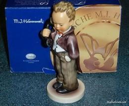 "Hummel Figurine ""Hello"" #124/I TMK8 Boy Answering Phone W/ Box - Large Version! - $135.79"